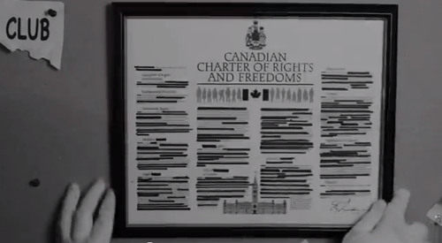 Censored Canadian Charter of Rights and Freedoms